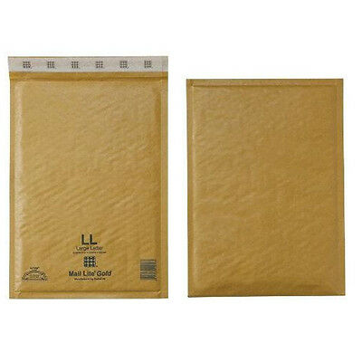5000 X LL MAIL LITE SEALED AIR PADDED ENVELOPES LARGE LETTER (250 x 350mm) GOLD