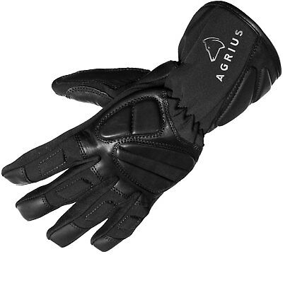 Agrius Warp Leather Motorcycle Motorbike Waterproof All Season Bike Gloves