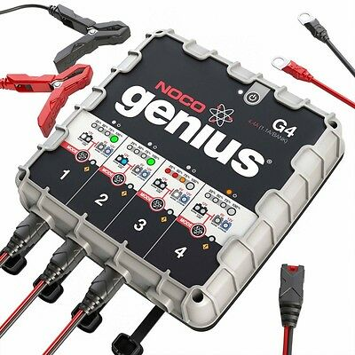 Noco Genius G4 4.4 Amp 4-Bank Ultrasafe Smart Battery Charger