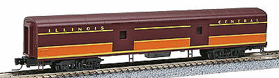 Micro Trains Line Z Scale 70' PS Smoothside Baggage Car - Illinois Central IC