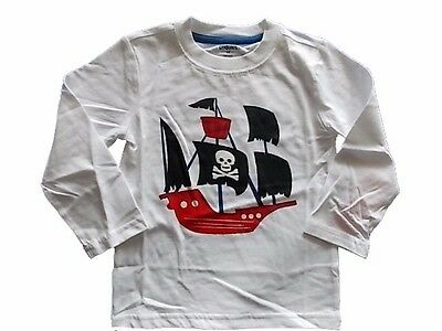 NWT Gymboree HAPPY HARVEST Pirate Skeleton Double Sleeve Top T-Shirt