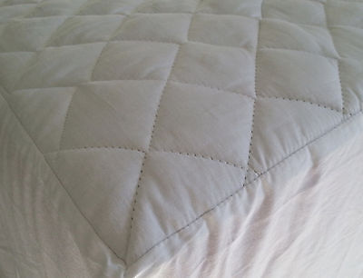 100% Cotton Quilted Mattress Protector Double