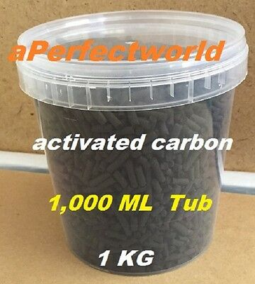 Activated Carbon~~1 Litre Bucket Aquarium Fish Pond Filter Media Clear Water 1Kg