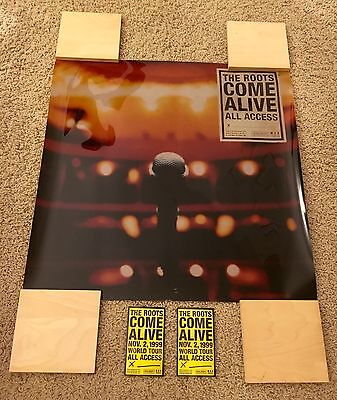 "Mega Rare! The Roots ""come Alive"" Lightbox Poster Promo Pack! 1999! (Questlove)"