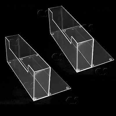 """2X Counter Top 9"""" Brochure/Magazine Holder Display Clear Acrylic NEW _305-05x2"""