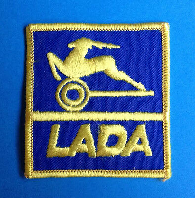 Rare Vintage Lada Motors Russia Soviet Union Car Club Jacket Hat Patch Crest