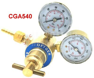 Oxygen Gas Regulator Welding Cutting Torch Pressure Gauge Fits Victor Brass NEW
