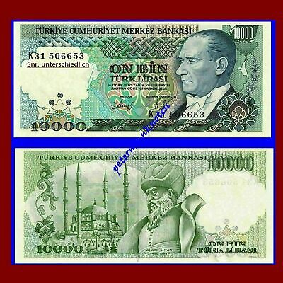 Türkei Turkey 10000 Lira 1989 Unc. Pick 200 #