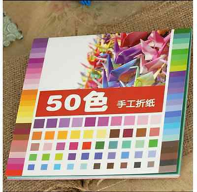 ORIGAMI Square Craft Paper x 50 Different Color