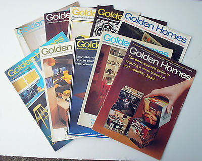 Golden Homes Magazines Marshall Cavendish Issues 1-10, 1972 - Free P&P!