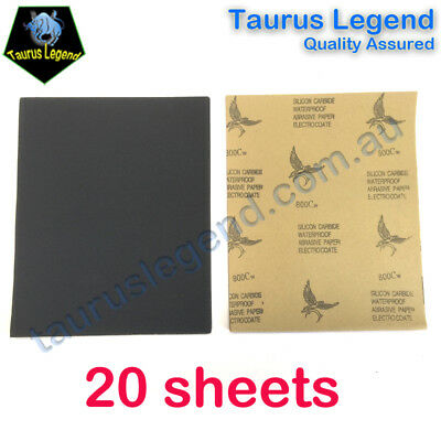 20 Sheets 800 Grit Waterproof SandPaper Wet and Dry Abrasive Paper Sanding