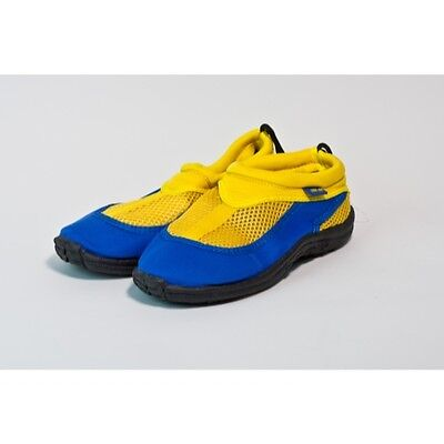 Trufit Kids Swimshoes Back String and Toggle Blue/Yellow Size 3