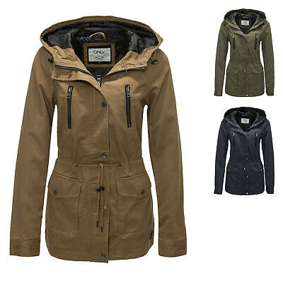 Only Damen Übergangsjacke Spring Parka Jacket Jacke Trenchcoat Color Mix WOW