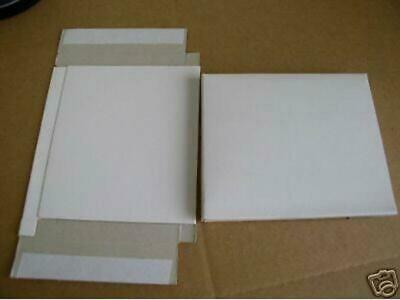 "250 White 1/2"" Tall Cardboard Cd Case Box Mailers, Js7"