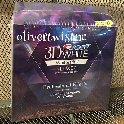 New Crest 3D Professional Effects Lux Whitestrips 20 Treatments EXPIRES JAN2018