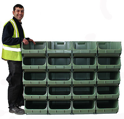 Large Container Pick Pigeon Hole Wall Parts Bins Stackable (20 x Union F)