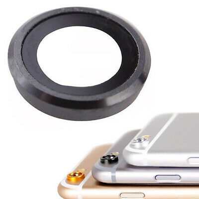 Glass Camera Lens Cover Ring Black For iPhone 6 & 6S 4.7""