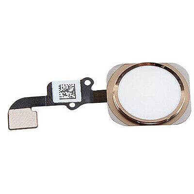"""White Gold Home Button With Flex Cable Touch ID For iPhone 6S 4.7"""""""