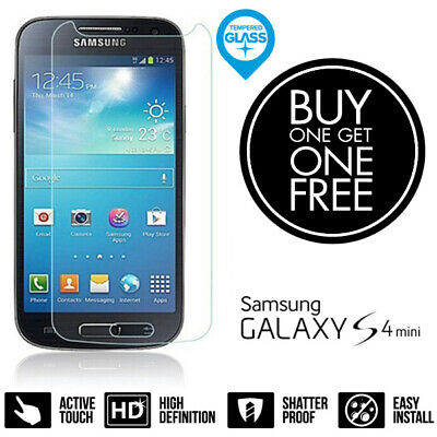 100% Genuine Tempered Glass LCD Screen Protector Film For Samsung Galaxy S4 Mini