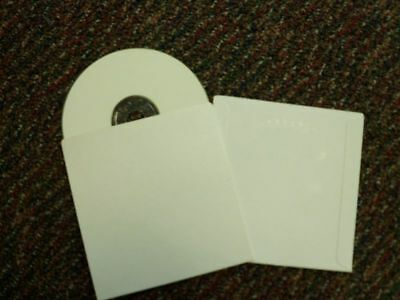 "500 CD DVD WHITE CARDBOARD SLEEVE, INTERNAL SLEEVE 5"" x 5"" SF09L"
