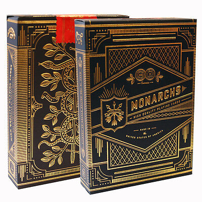 Monarch Playing Cards - Blue, Green & Red - Theory 11 Quality Luxury Card Deck