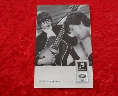 Peter & Gordon - Original Columbia Autogrammkarte Karte Card DrW 4045d (Beatles)