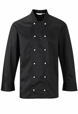 Black Or White Co-Operative Long Sleeve Chef Jacket Plastic Buttons Chefs Jc363