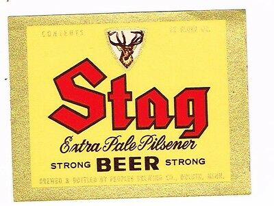Nice Stag Extra Pale Pilsener Strong Beer 12oz Peoples Brewing Co Duluth MINN