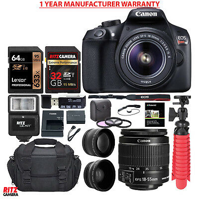 Canon Rebel T6 DSLR Camera + 18-55mm Lens + WARRANTY + 25 Piece Accessory Kit