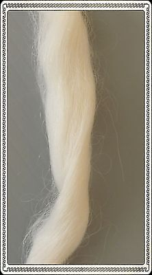 English Mohair for Reborn or Porcelain Dolls - White, 21gm-25gm pack
