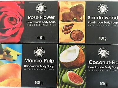 20 x 100g Bars of Song of India Handmade Herbal Body Soaps with Essential Oils