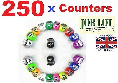 250 x DIGITAL FINGER RING TALLY COUNTER Row counter TASBEEH JOB LOT Wholesale