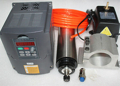 4.5KW Water Cooled CNC Spindle Motor Kit &5.5KW VFD Inverter&100mm Bracket&Pump