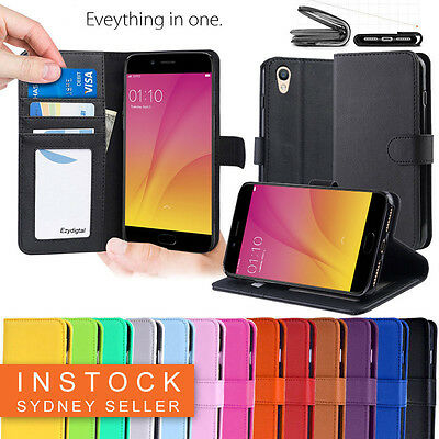 Premium Leather Wallet Case Cover FOR OPPO AX7 AX5 AX5s A3S R15 R17 PRO A57 A73
