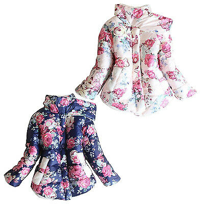 Winter Girls Sweet Lovely Thick Trench Coat Jacket HY