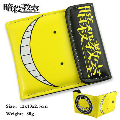 Anime Assassination Classroom Korosensei Shiota Nagisa Kayano PU short wallet