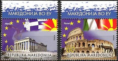 Macedonia 2014 Architecture Capitals of Greece and Italy set of 2 MNH**