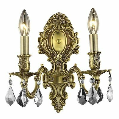 "Elegant Lighting Monarch 10"" 2 Light Elements Crystal Wall Sconce"