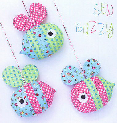 Sew Buzzy - Sewing Craft A5 Creative Card PATTERN - Bees Baby Mobile