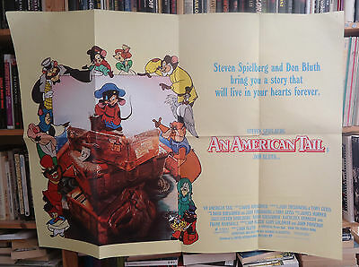 DON BLUTH/ AN AMERICAN TAIL///british quad poster