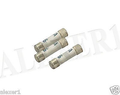 16x 3,15A 250V 4x15 Vintage Russian Military Fast Fuse Silver 999 Audio PK-1