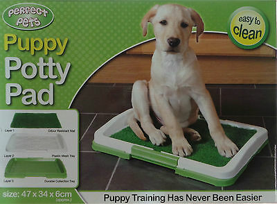 Dog Puppy Training Potty Mat Pet Toilet Litter Tray Artificial Grass Pad