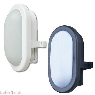 LED Bulkhead Wall Light Black/White IP65 5 Watt Compact Utility Outdoor
