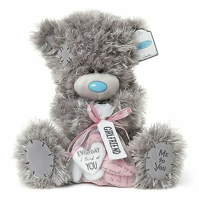"Me to You 12"" Large Girlfriend Plush & Bag Of Heart Messages - Tatty Teddy Bear"