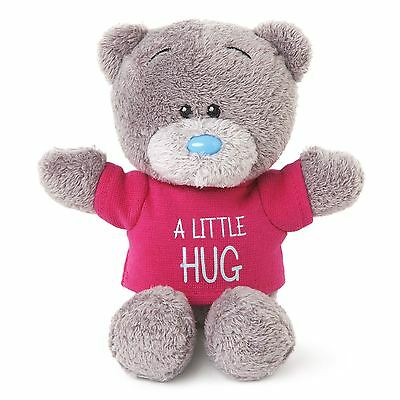 "Me to You 4"" A Little Hug Small Soft Plush & Red T-Shirt Gift - Tatty Teddy Bear"