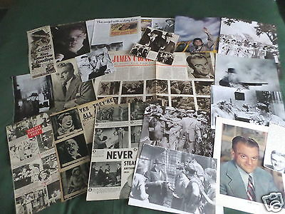 James Cagney - Film Star - Clippings /cuttings Pack