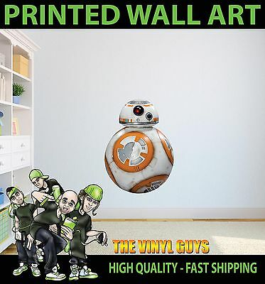 Printed Wall Art Bb-8 Star Wars The Force Awakens Graphic Sticker Kids Bed Room