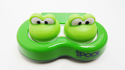 New Contact Lens Cleaning Holder Case Travel Box Container Cute Animal Frog