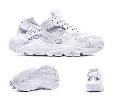 Nike Air Huarache Run Gs White Junior/Women Trainer Triple White Sizes Uk 3-6