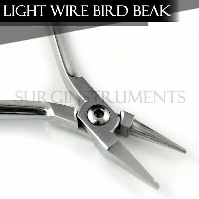Light Wire Bird Beak Pliers With Groove - Orthodontic Instruments Dental 678-305